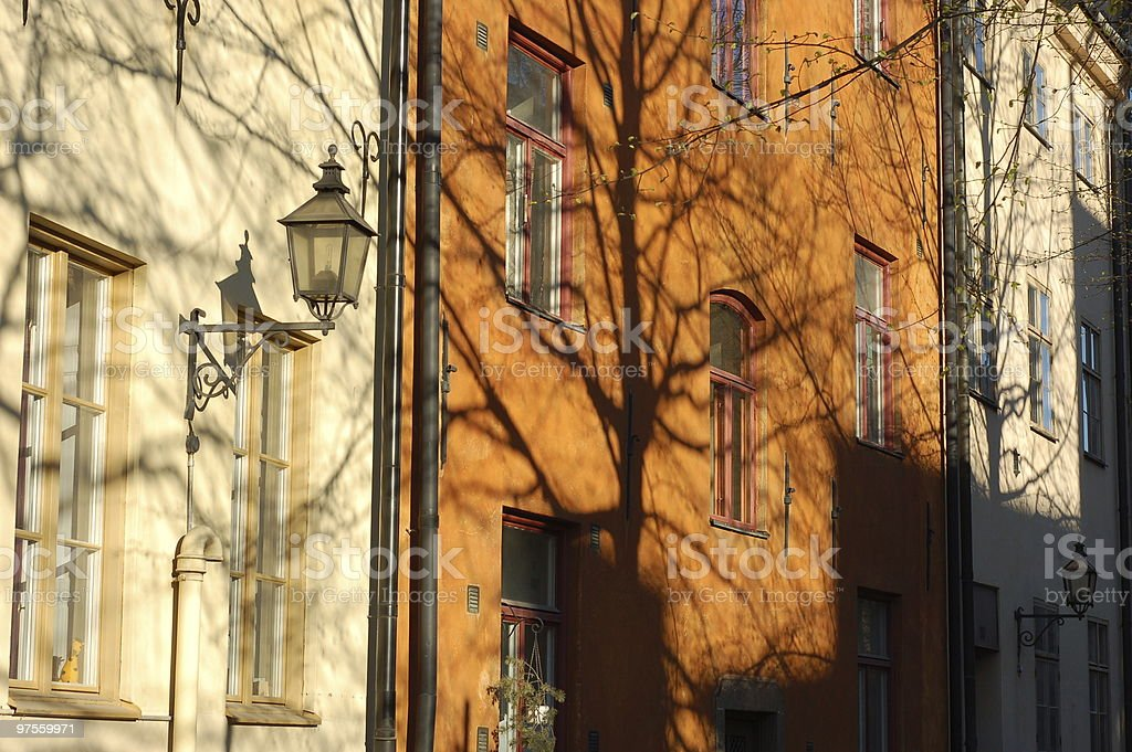 Houses in Stockholm royalty-free stock photo