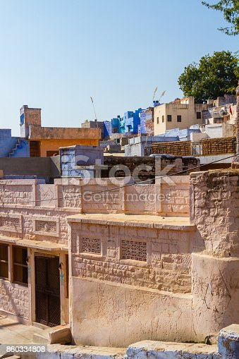 istock Houses in the Blue City 860334808