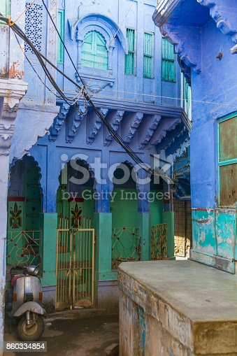 istock Houses in the Blue City 860334854