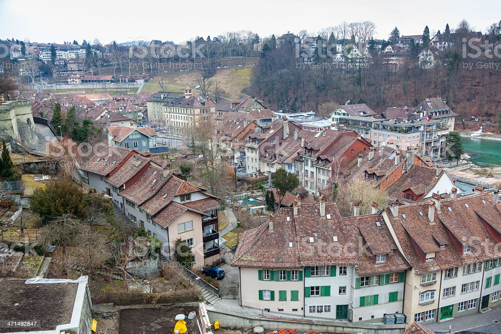 Houses in the City of Bern, Swiss royalty-free stock photo