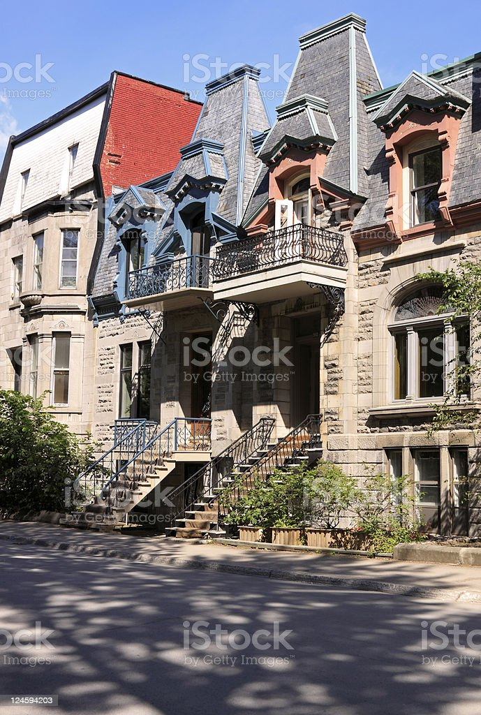 Houses in the city stock photo