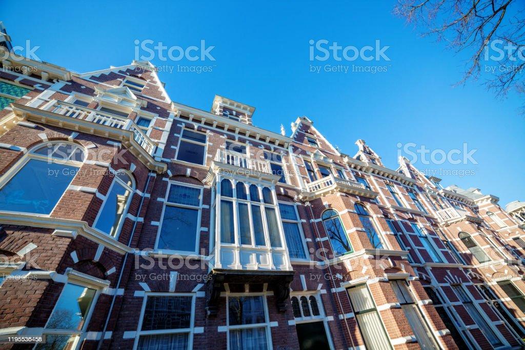 Huizen in Den Haag - Royalty-free Antiek - Toestand Stockfoto