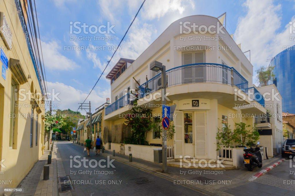 Maisons dans le quartier historique Neve Tzedek, Tel-Aviv - Photo