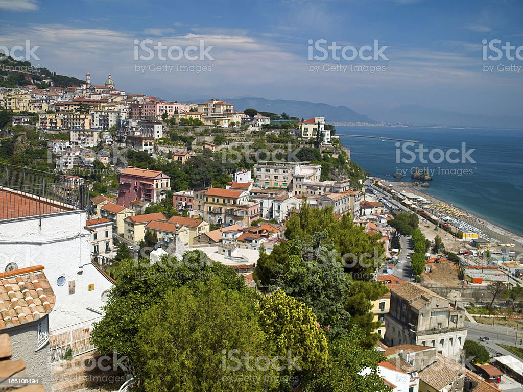 Houses in the mountains landscape royalty-free stock photo
