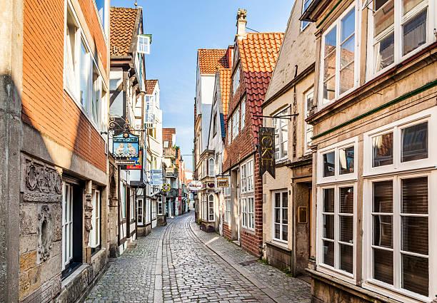Casas en el trimestre Schnoor en Bremen - foto de stock