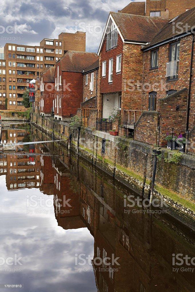 Houses in the St Katharine Docks, London stock photo