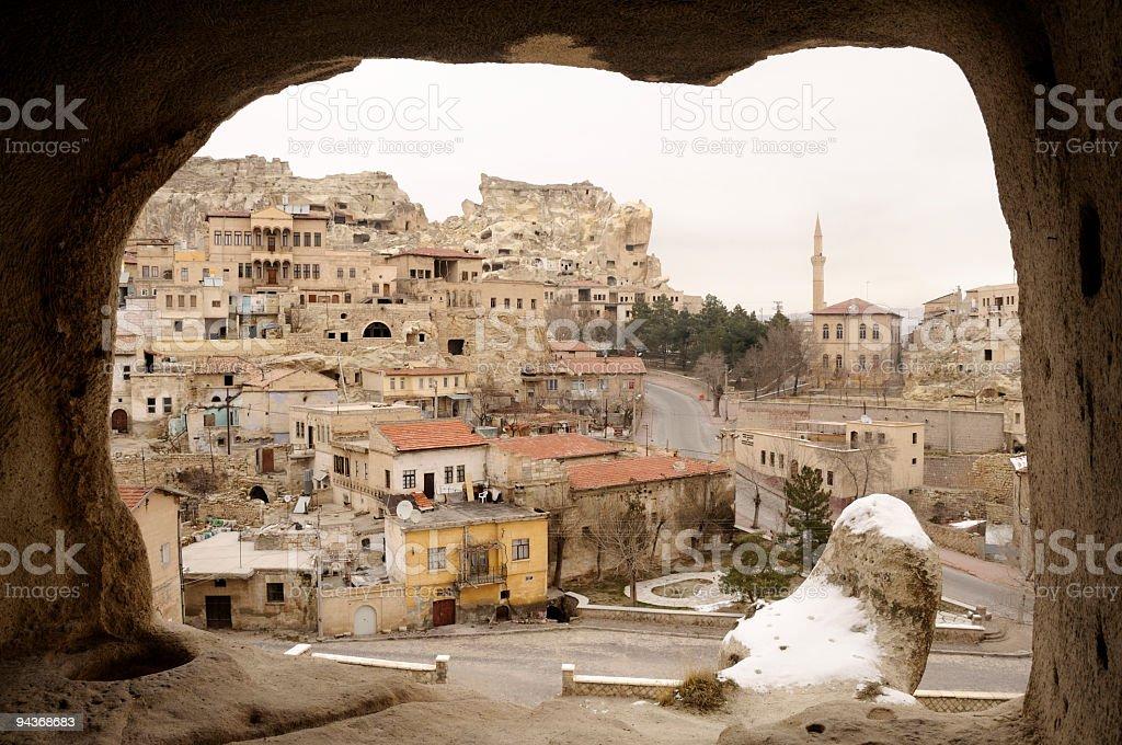 Houses in Urgup, Cappadocia, Nevsehir, Turkey stock photo