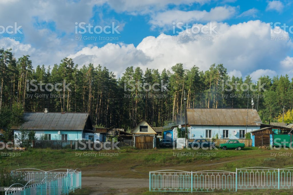 Houses near station stock photo