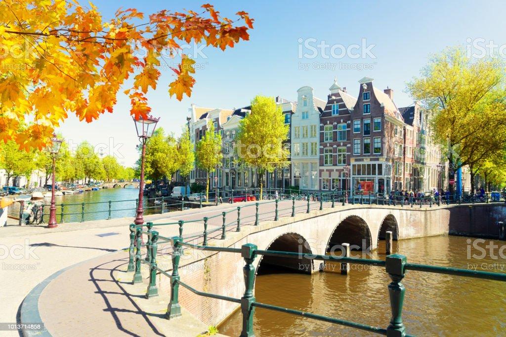 Houses of Amstardam, Netherlands stock photo