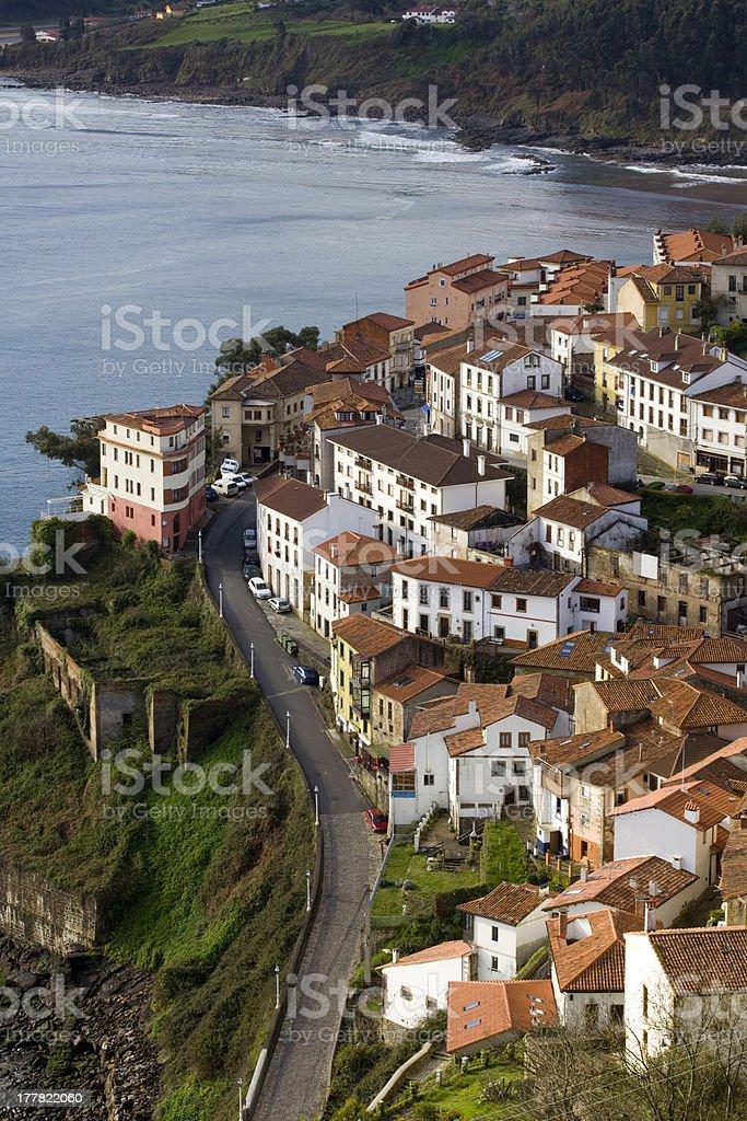 Houses of Lastres. stock photo