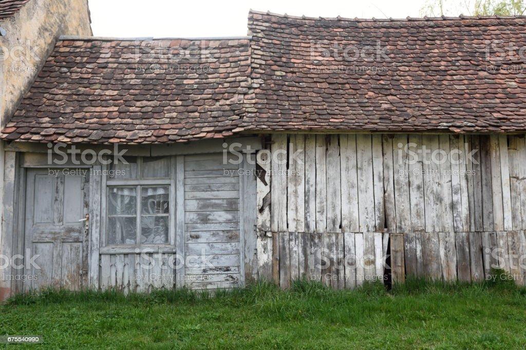 houses of medieval village of Biertan,Transylvania, Romania royalty-free stock photo