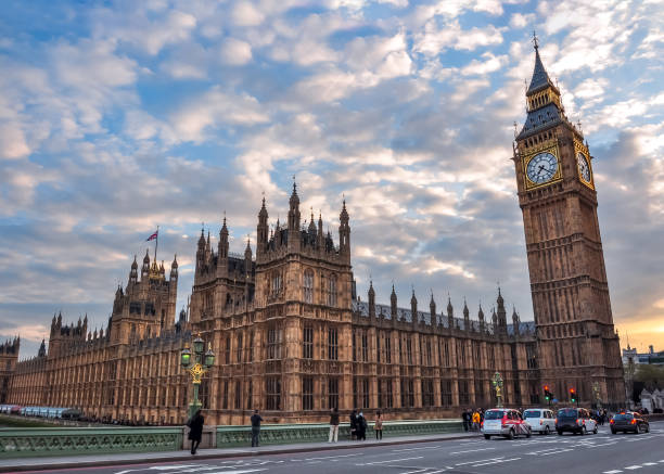 Houses of Parliament and Big Ben at sunset, London, UK Houses of Parliament and Big Ben at sunset, London, UK city of westminster london stock pictures, royalty-free photos & images
