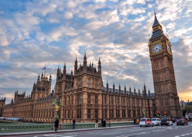 日落時的議會大廈和大本鐘, 英國倫敦 - 英國 個照片及圖片檔