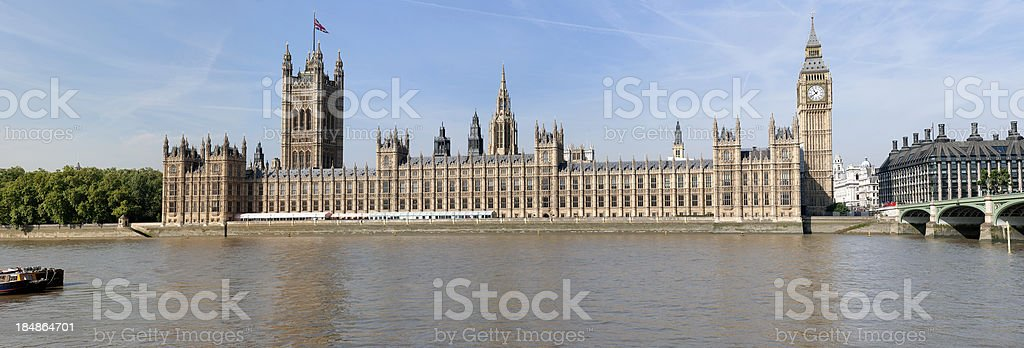 Houses of Parliament and Big Ben in London UK stock photo