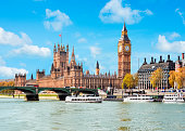 Houses of Parliament and Big Ben, London, UK
