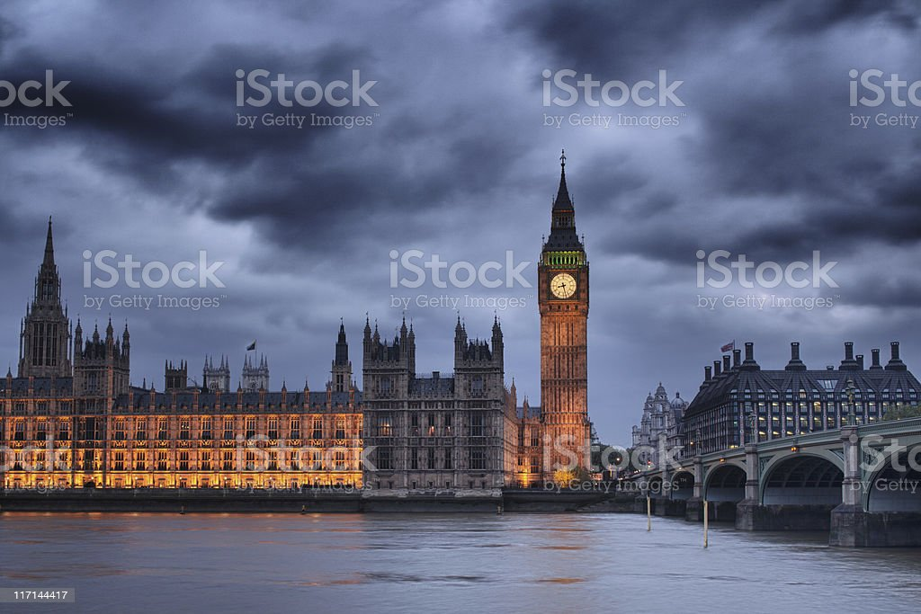 Houses of Parliament and Big Ben royalty-free stock photo