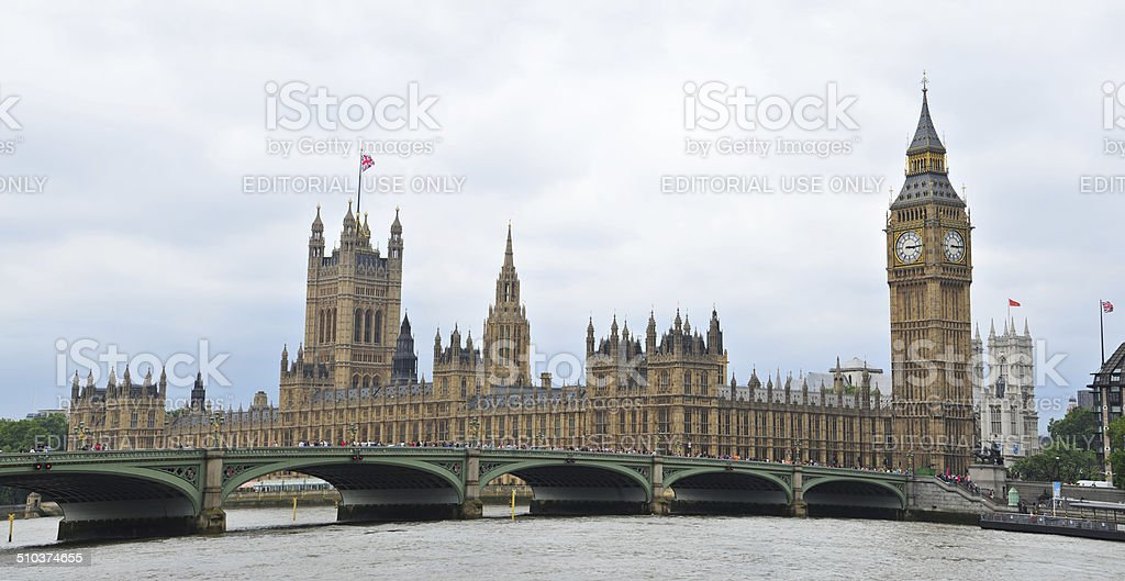 Houses of Parliament and Big Ben stock photo