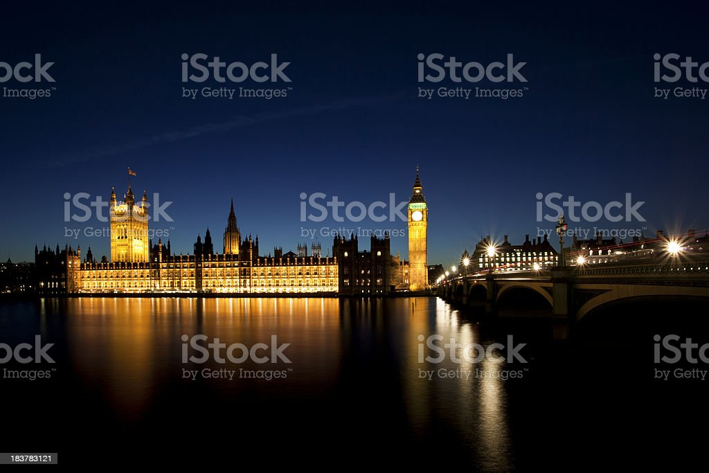 Houses of Parliament and Big Ben Westminster royalty-free stock photo