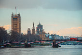 Houses of Parliament and Thames river in London