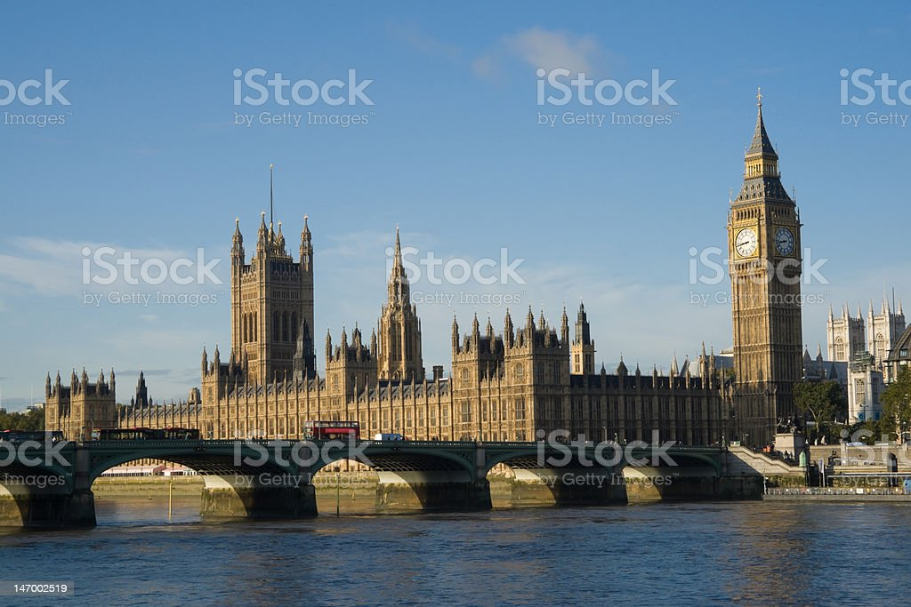 Houses of parliament at sunrise, 24Mp royalty-free stock photo