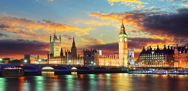Houses of parliament - Big ben, London, UK stock photo
