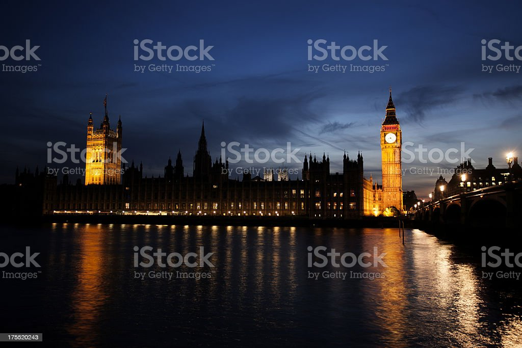Houses of Parliament, Big Ben, Westminster royalty-free stock photo