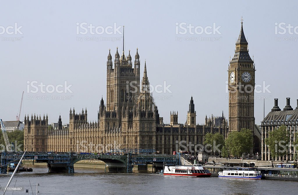 Houses of Parliament in London Westminster royalty-free stock photo