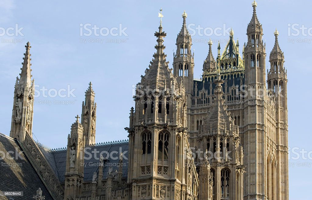 Houses of Parliament, London royalty-free stock photo