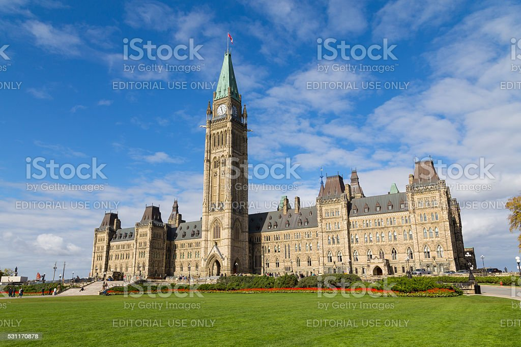 Houses of Parliament - Ottawa stock photo