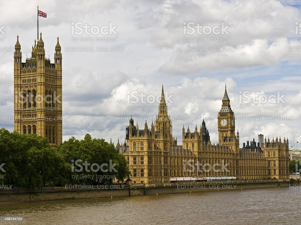 Houses of Parliament (London, England) royalty-free stock photo