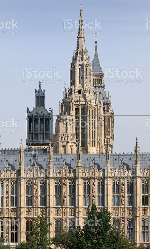 Houses of Parliament Victoria Tower and the Big Ben royalty-free stock photo
