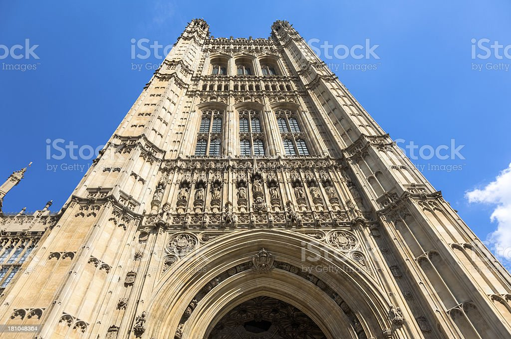 Houses of Parliament, Victoria Tower royalty-free stock photo