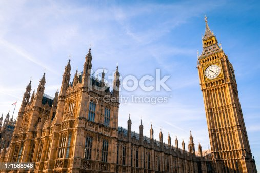Wide angle view of the House of Parliament at Westminster, London, England.Please see my London lightbox for more images...