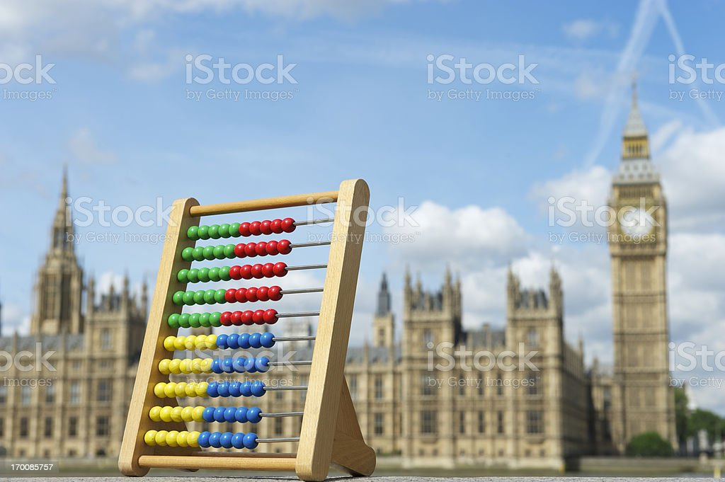 Houses of Parliament with Abacus stock photo