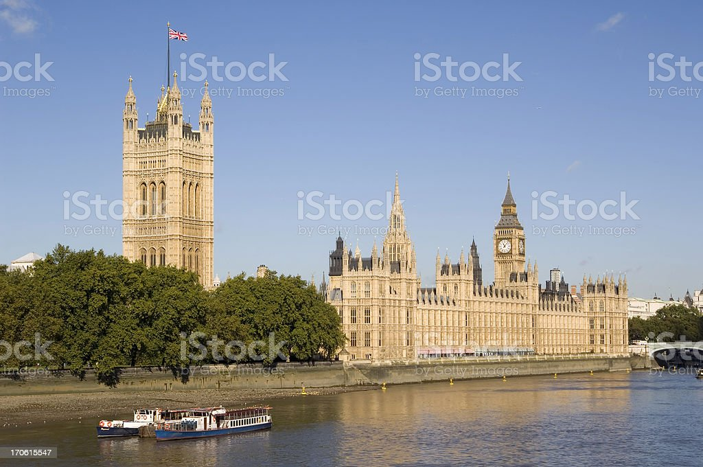 Houses of Parliament with Big Ben in London royalty-free stock photo