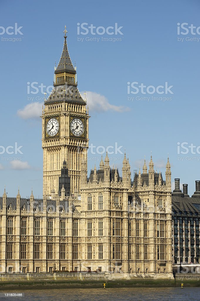 Houses of Parliament with Big Ben royalty-free stock photo