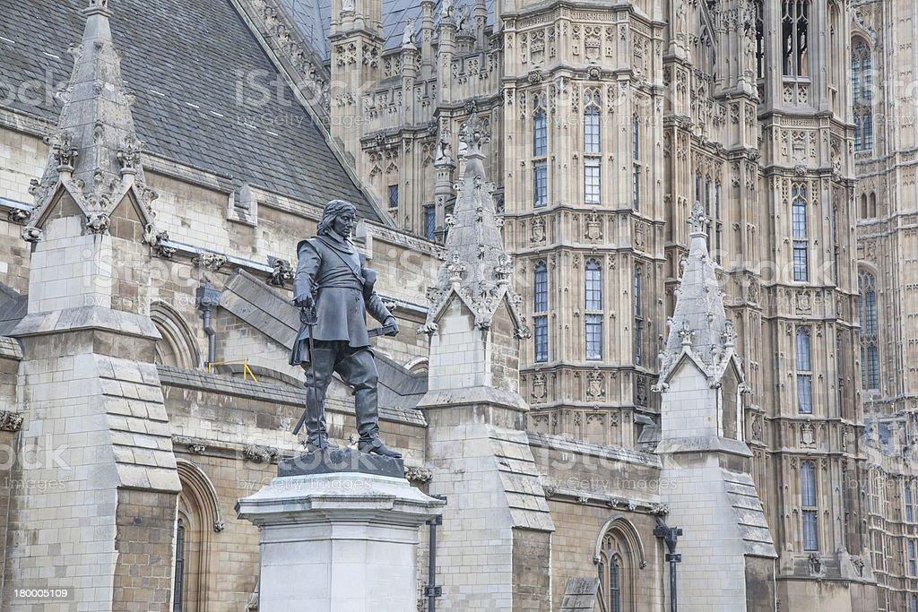 국회의사당, Cromwell 황후상 및 기념지, 런던, 런던 royalty-free 스톡 사진
