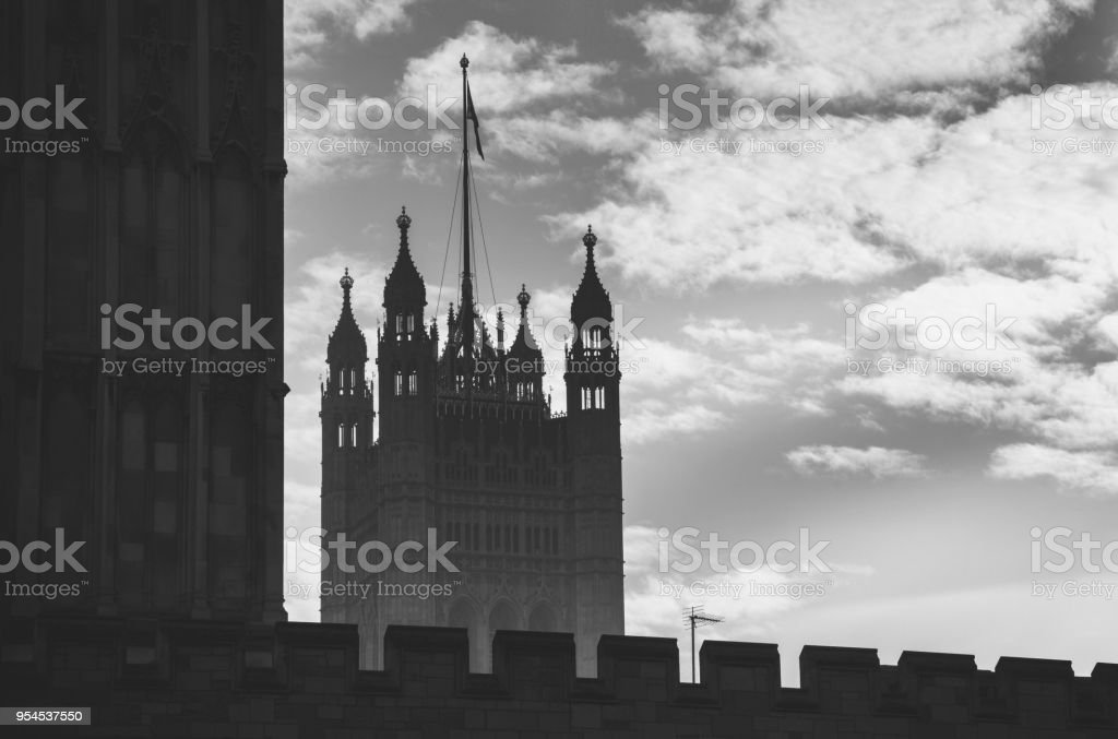 Houses of Parliament-Victoria Tower stock photo