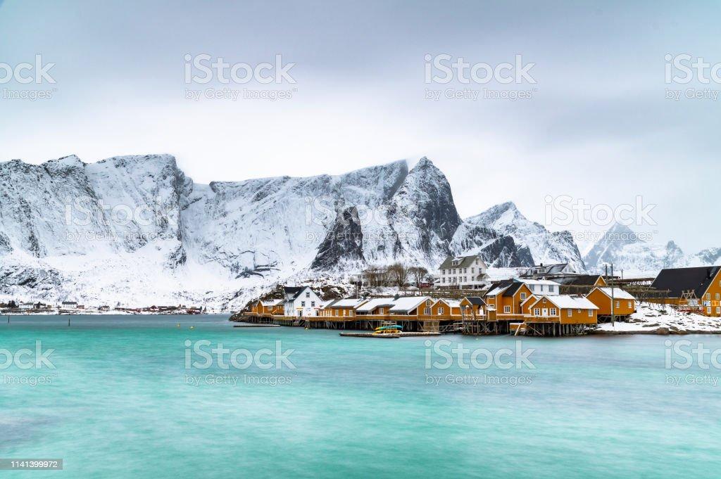 Houses of Sakrisoy stock photo