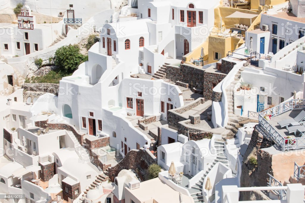 Houses of Santorini, Greece stock photo