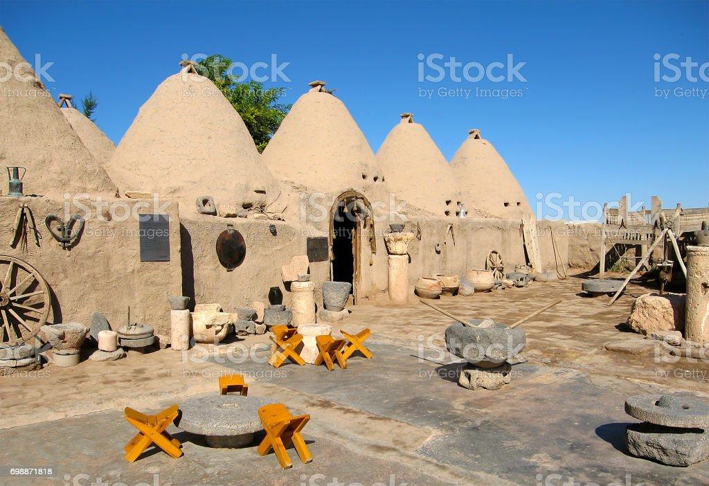 houses of the ancient city of Harran, Turkey stock photo