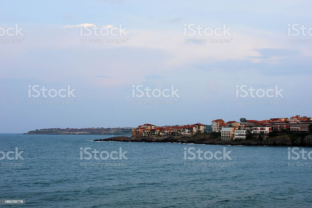 houses of the old town of Sozopol, Bulgaria stock photo