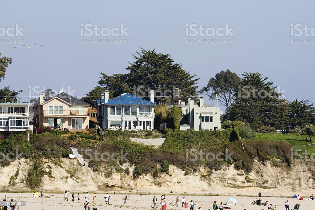 Houses On A Cliff stock photo