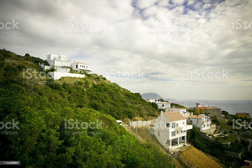 Houses on a Hill royalty-free stock photo