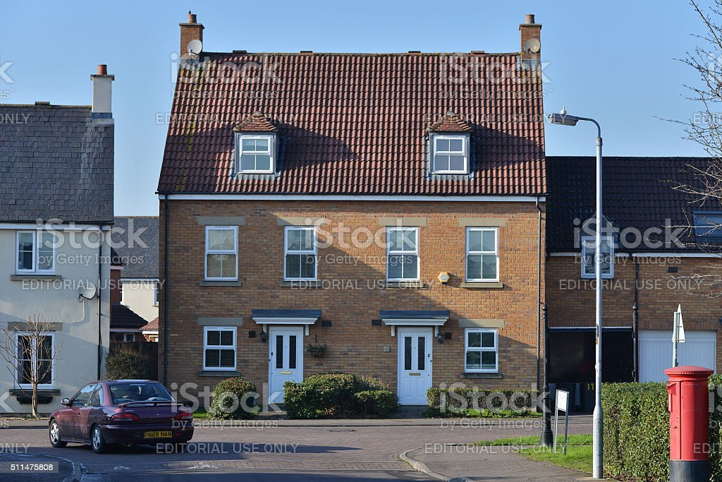 Houses on a Residential Estate stock photo
