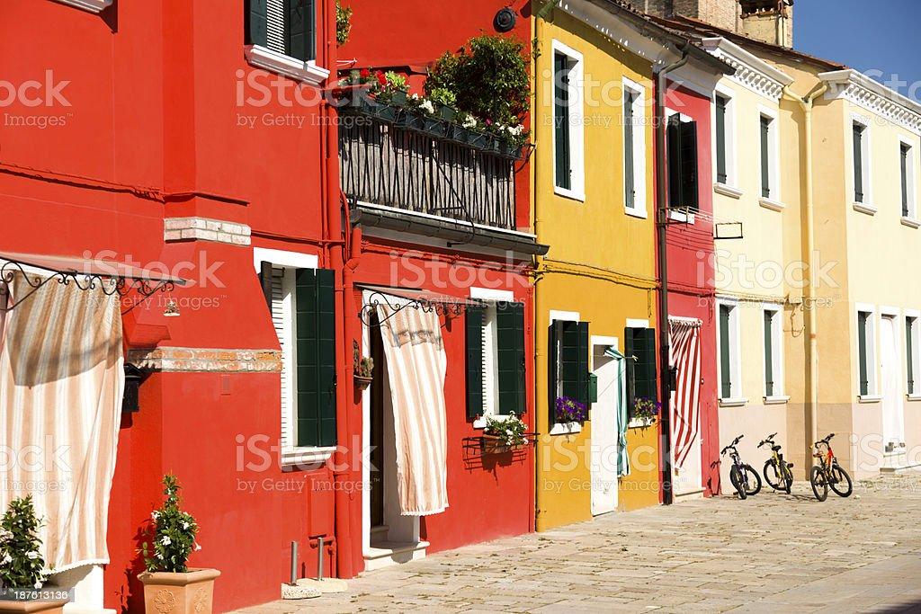 Houses on Burano island royalty-free stock photo