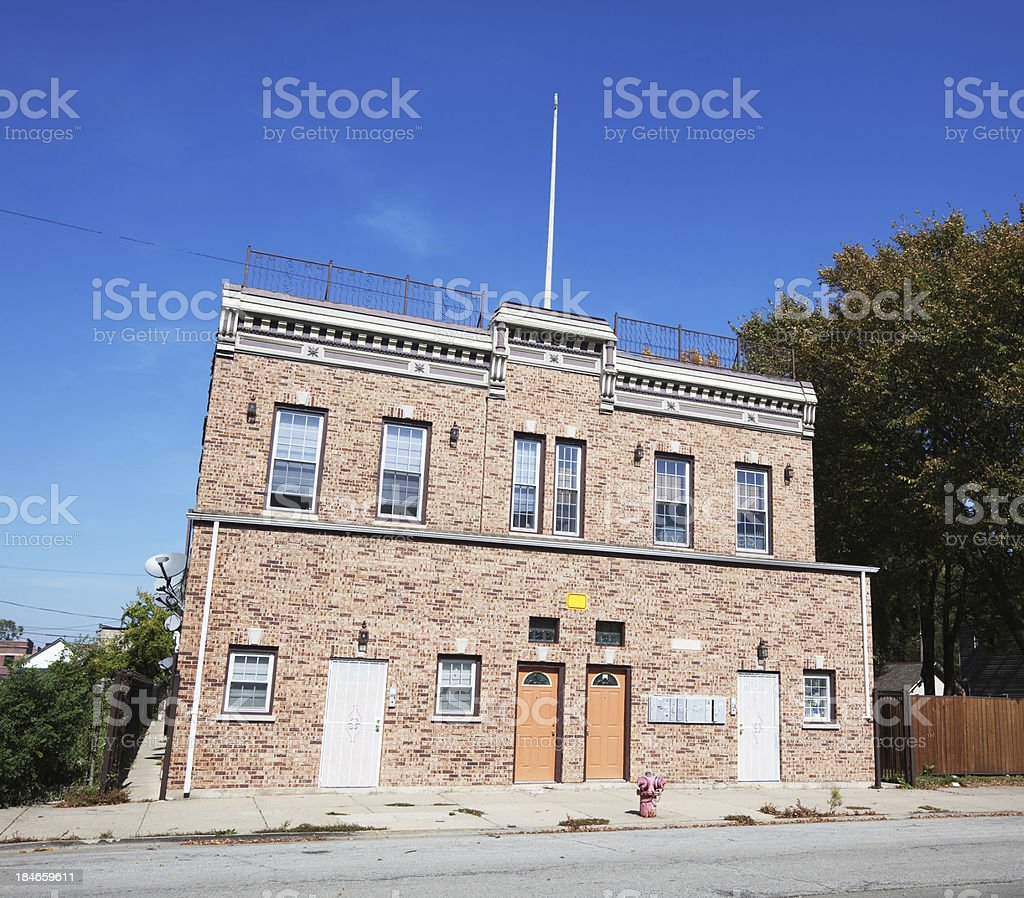 Houses on East Kensington Avenue in West Pullman, Chicago royalty-free stock photo