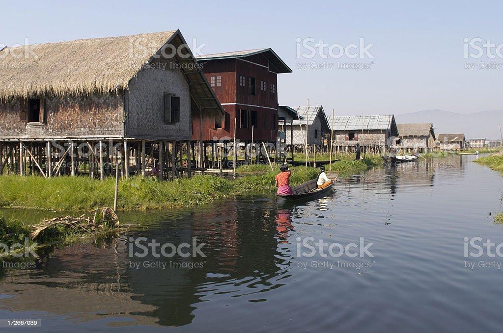 Houses on Stilts royalty-free stock photo