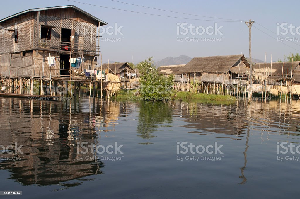 Houses on Stilts stock photo