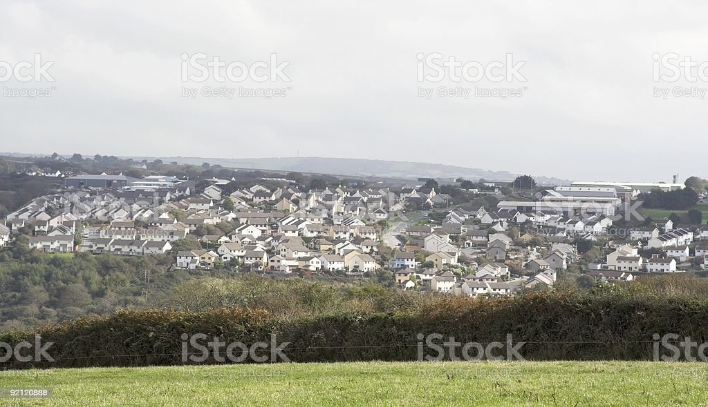 Houses On The Hillside royalty-free stock photo